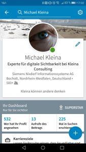 Michael Kleina Social Media LinkedIn 169x300 - Endlich sichtbar in Facebook, Twitter und Co.